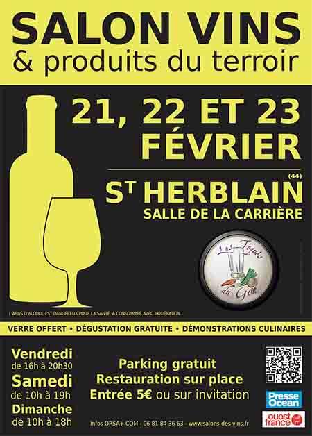 salon des vins la Carrière St Herblain affiche officielle