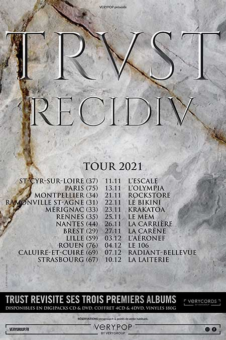 Trust Recidiv Tour à La Carrière Events, salle de spectacles à Nantes
